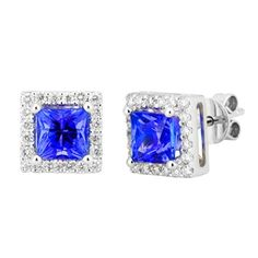 Tanzanite and Diamond Earrings 1.72 TCW - http://www.tanzanite.com/product-p/tze26275.htm