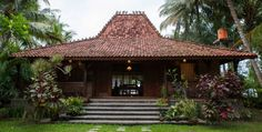 Seafront Villa on Java West Coast, Indonesia - Villas for Rent in Labuhan, Banten, Indonesia Villa Design, House Design, Traditional Decor, Traditional House, Style At Home, Good House, My House, Indonesian House, Conception Villa