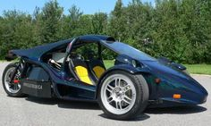 Campagna Motors based in Montreal Canada. This is the T-Rex three wheel electric vehicle. http://www.lubecity.ca/