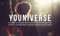 Neologismen: youniverse