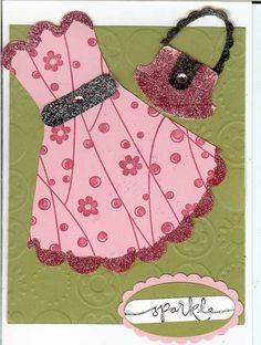 Scallop Dress and Punch Purse by KopyKat - Cards and Paper Crafts at Splitcoaststampers