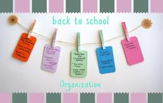 Ombre painted clothespins to help you organize your weekly tasks