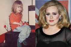 Young Adele Launches Her Early Music Career http://www.snakkle.com/galleries/hot-gallery-the-2012-billboard-music-nominees-before-they-were-stars-now-and-then-yearbook-photos/adele-adkins-young-child-red-carpet-2012-photo-split/