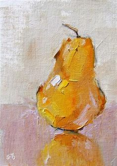 """Gold Pear"" - Original Fine Art for Sale - © Gina Brown"