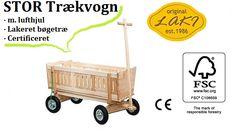 Skal du være klar til at køre rundt med ungerne? Trækvogne i bøgetræ fra LAKI. Se dem her http://www.legehjulet.dk/10-traekvogne-til-born