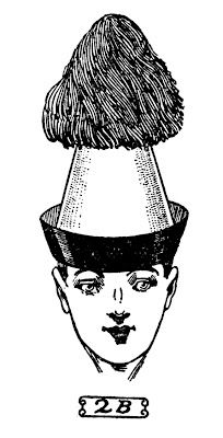 printable vintage clip art: men with funny party hats. there must be a practical use for this in my life.