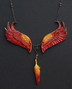 Eternal Phoenix - Leather Pendant. $100.00, via Etsy.
