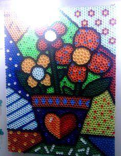 Resultado de imagem para painel feito com tampinhas de garrafa pet