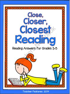 """Close, Closer, Closest! Reading Strategies and More from Teacher Features on TeachersNotebook.com -  (64 pages)  - Teaching students how to read closely empowers them to become independent learners. �Close, Closer, Closest"""" offers reading solutions for grades 3-5� and is full of engaging resources to help your"""