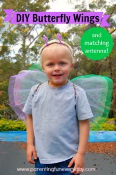 How to make butterfly wings costume for Halloween or dress-up parties. www.parentingfuneveryday.com