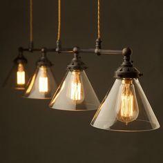 Bronze-Four-Lamp-Billiard-table-light