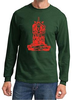 Mens Yoga Red Tara Dark Green Long Sleeve Shirt 4XL >>> You can get additional details at the image link.