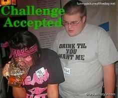 Drinking Challenge Accepted Funny Drunk