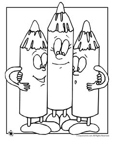 Three Happy Crayons Coloring Page From School Category Select 30465 Printable Crafts Of Cartoons Nature Animals Bible And Many More