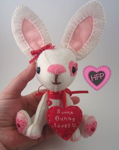 $40 Some Bunny Loves You is perfect for that special someone in your life.  The heart message is detachable, so you have a reminder ornament :)