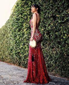 vestido de festa formatura vermelho
