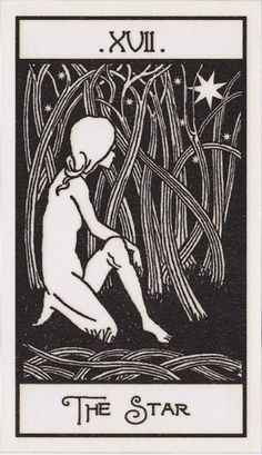 The Star - Upright: Hope, spirituality, renewal, inspiration, serenity. Reversed: Lack of faith, despair, discouragement.