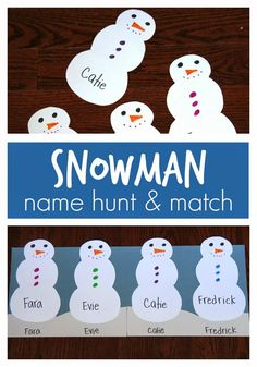 Toddler Approved!: Snowman Name Hunt & Match for Preschoolers