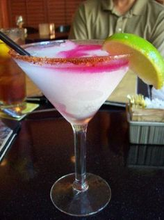 Boudro's on the Riverwalk: Prickly pear cactus margarita - delicious!