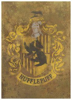 Harry Potter (Hufflepuff Crest) Movie Poster Masterprint at AllPosters.com