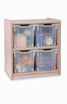 Whitney Brothers 4 Jumbo Tray Melamine Storage - 2 Cartons WB0704