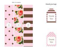 FREE Pink, Black, Chocolate Baby Shower Printables