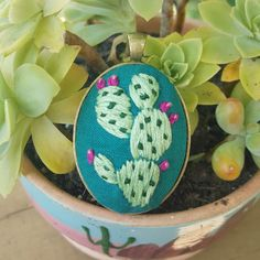 Prickly Pear Cactus by alovelystitchintime on Etsy
