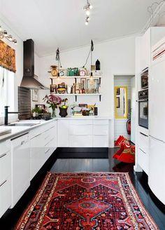 Turkish carpet in the kitchen
