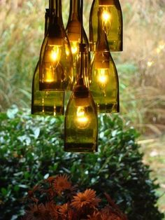 DIY Chandelier For Wine-Lovers - Cool DIY Chandelier Ideas for Inspiration, http://hative.com/cool-diy-chandelier-ideas-for-inspiration/,