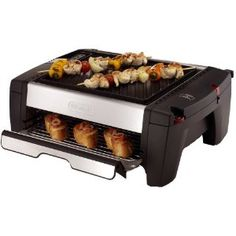 DeLonghi BQ100 Indoor Grill and Smokeless Broiler. Memorial Day Weekend is coming, but it's still raining in Seattle...