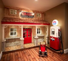 Playhouse w. gas pump  - Kids - Salt Lake City - Playhouse was NOT done by Joe Carrick Design - 2013 Parade Home (Highland) winner of People's Choice Award, Best Architecture, and various judges choice awards. Built by McEwan Custom Homes & Joe Carrick Designs