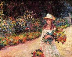 Young Girl in the Garden at Giverny (1888) | Claude Monet