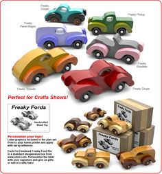 Fat Fendered Freaky Fords Wood Toy Plan Set