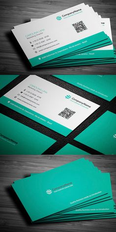 A professional and modern Business cards template that will perfectly suit your business. This is a collection of best and stylish business cards design by Minimal Business Card, Modern Business Cards, Custom Business Cards, Creative Business, Corporate Business, Creative Hub, Corporate Design, Id Card Design, Card Designs