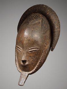 Un masque Gouro par le « Maître de Bouaflé » Exceptionnel masque aux traits