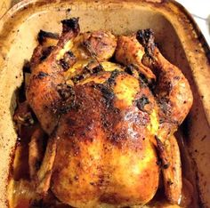Best Whole Roasted Chicken Recipe EVAH! | A Daily Dose of Toni// finally! A recipe that calls for the Pampered Chef rectangle baker I bought that's sitting in my cupboard, all lonely & sad.