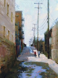 Shortcut to Olympic Blvd. 12 x 16 in., oil on panel. Jennifer McChristian. $2,100