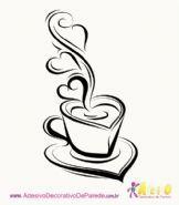 adesivo de xícara