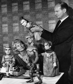 Gerry and Sylvia Anderson during production of Stingray.