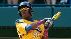 """""""Chicago's Pierce Jones hit three home runs Thursday, including a first-inning leadoff shot, to lead the Jackie Robinson West team to a 12-2 victory over Lynnwood of Washington state."""" http://6abc.com/sports/chicagos-pierce-jones-3-hr-triple/260623/"""
