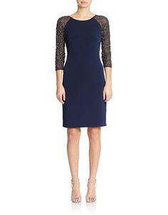 Brands | Cocktail & Party | Bead Accented Shift Dress | Lord and Taylor
