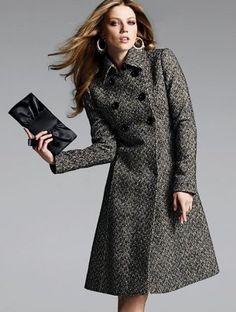 Via wool coat Look Fashion, Hijab Fashion, Winter Fashion, Womens Fashion, Fashion Design, Trench Coat Style, Hijab Style, Tweed Coat, Wool Coat