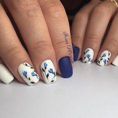 Nail Designs for Short Nails 2018 25 Cute Short Nail Design Ideas Cute Short Nails, Long Nails, Cute Nails, Ideas For Short Nails, Short Nail Designs, Cute Nail Designs, Nail Design For Short Nails, Flower Nail Designs, Cobalt Blue Nails