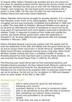 Grade 7 Reading Lesson 14 Biographies - Nelson Mandela (2)