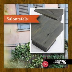 *Salon Tafel Milaan* http://www.eikenoutletstore.nl/a-43654386/tafels/salontafel-milaan/  Salon Tafel Milaan , Hoog 40 cm, Breed 60 cm, Lang 60 cm, Bladdikte 3 cm, Poot 35*35 cm, Europees eiken 3e kwaliteit. Afwerking Fumed intens met Charcoal.   In de OUTLETSTORE van Eiken tafels : http://www.eikentafels.nl/product,Salontafel+Milaan,323 Deze moderne salontafel is voorzien van een voelbare houtstructuur en is eenvoudig schoon te maken. Eikentafels.nl maakt meubelen volledig op maat!