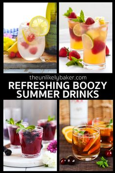 Epic Collection of Summertime Drinks - The Unlikely Baker Easy Drink Recipes, Drinks Alcohol Recipes, Non Alcoholic Drinks, Smoothie Recipes, Smoothies, Easy Cocktails, Summer Cocktails, Cocktail Recipes, Party Food And Drinks