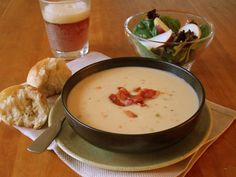 Our creamy cheddar ale soup gets its rich, tangy flavor from Cabot cheddar and a bottle of your favorite ale. Garnished with crispy crumbled bacon, enjoy this simple recipe for lunch or pair it with a salad and rolls for a filling dinner.