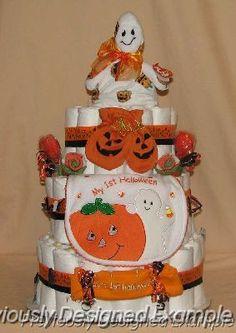 Halloween Ghost Diaper Cake