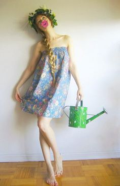 SuPeR SALE  GooD MoRNiNG SUNSHINE   80s Skirt Tube by agnestheowl, $15.00