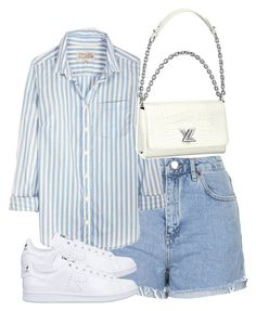 A fashion look from June 2016 featuring cotton blouse, high-rise shorts and lace up sneakers. Browse and shop related looks. Kpop Fashion Outfits, Girls Fashion Clothes, Mode Outfits, Retro Outfits, Cute Casual Outfits, Stylish Outfits, Summer Outfits, Look Fashion, Korean Fashion